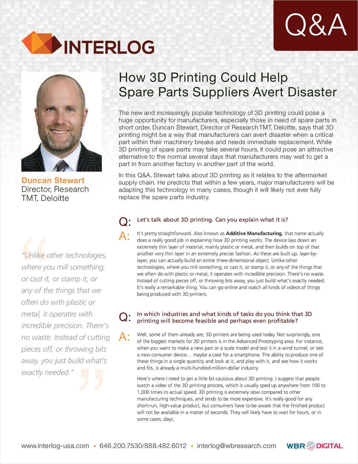 How 3D Printing Could Help Spare Parts Suppliers Avert Disaster