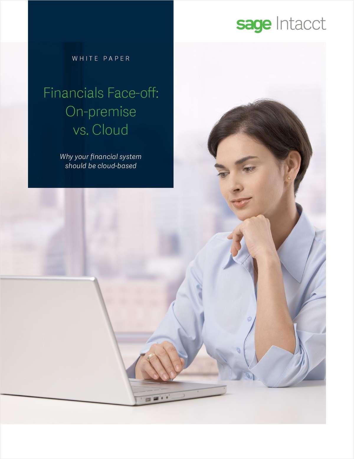 Financials Face-off: On-premise vs. Cloud