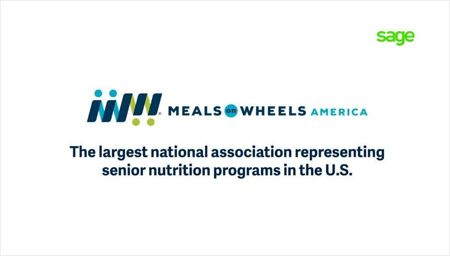 How Meals on Wheels America Fuels Growth with Sage Intacct