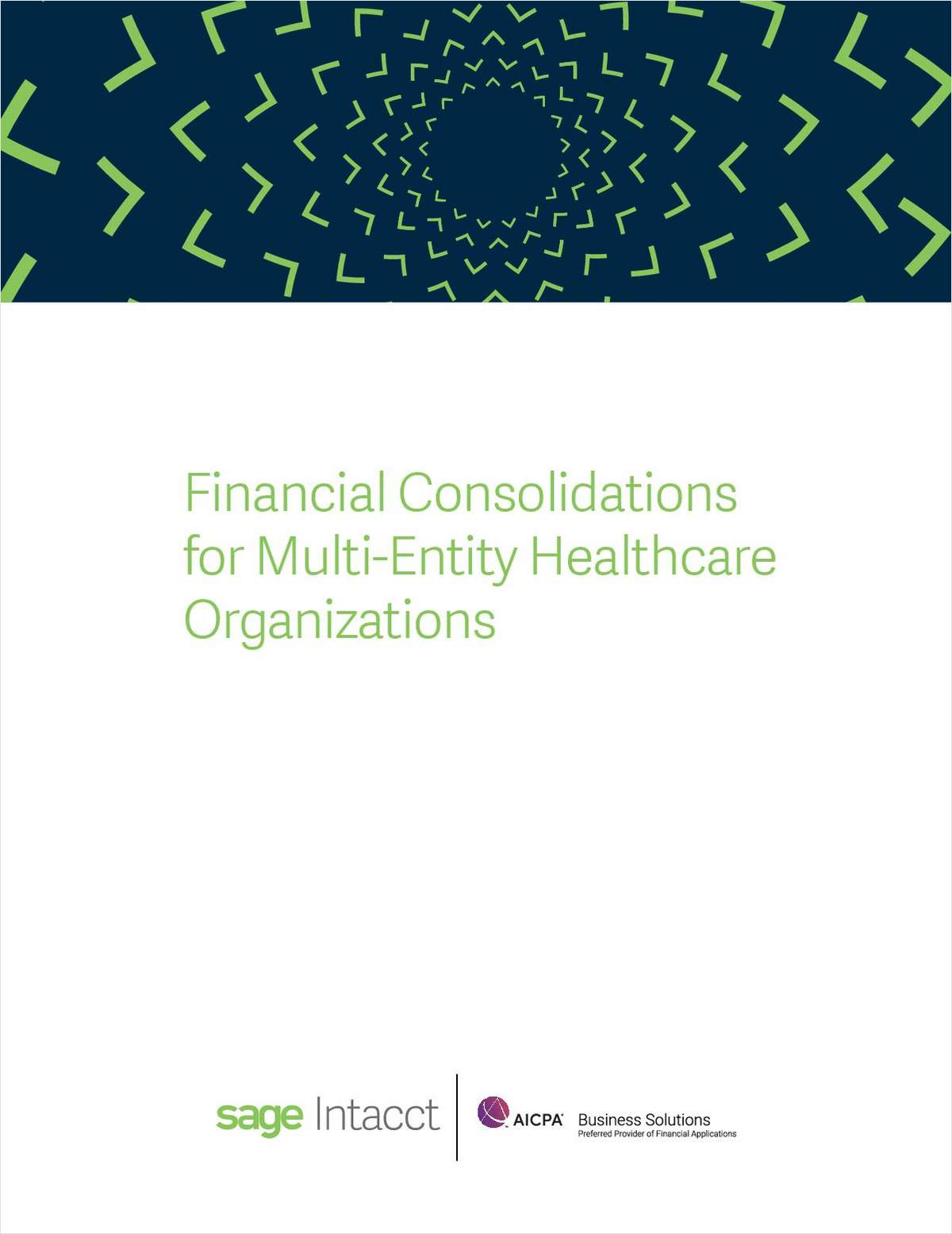 Financial Consolidations for Multi-Entity Healthcare Organizations