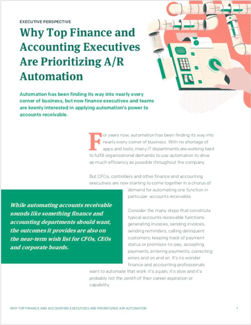 Why Top Finance and Accounting Executives Are Prioritizing A/R Automation