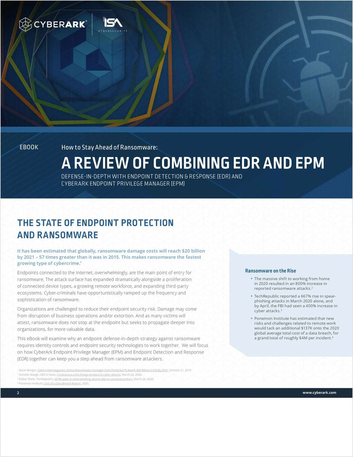 How To Stay Ahead of Ransomware: A Review of Combining EDR and EPM