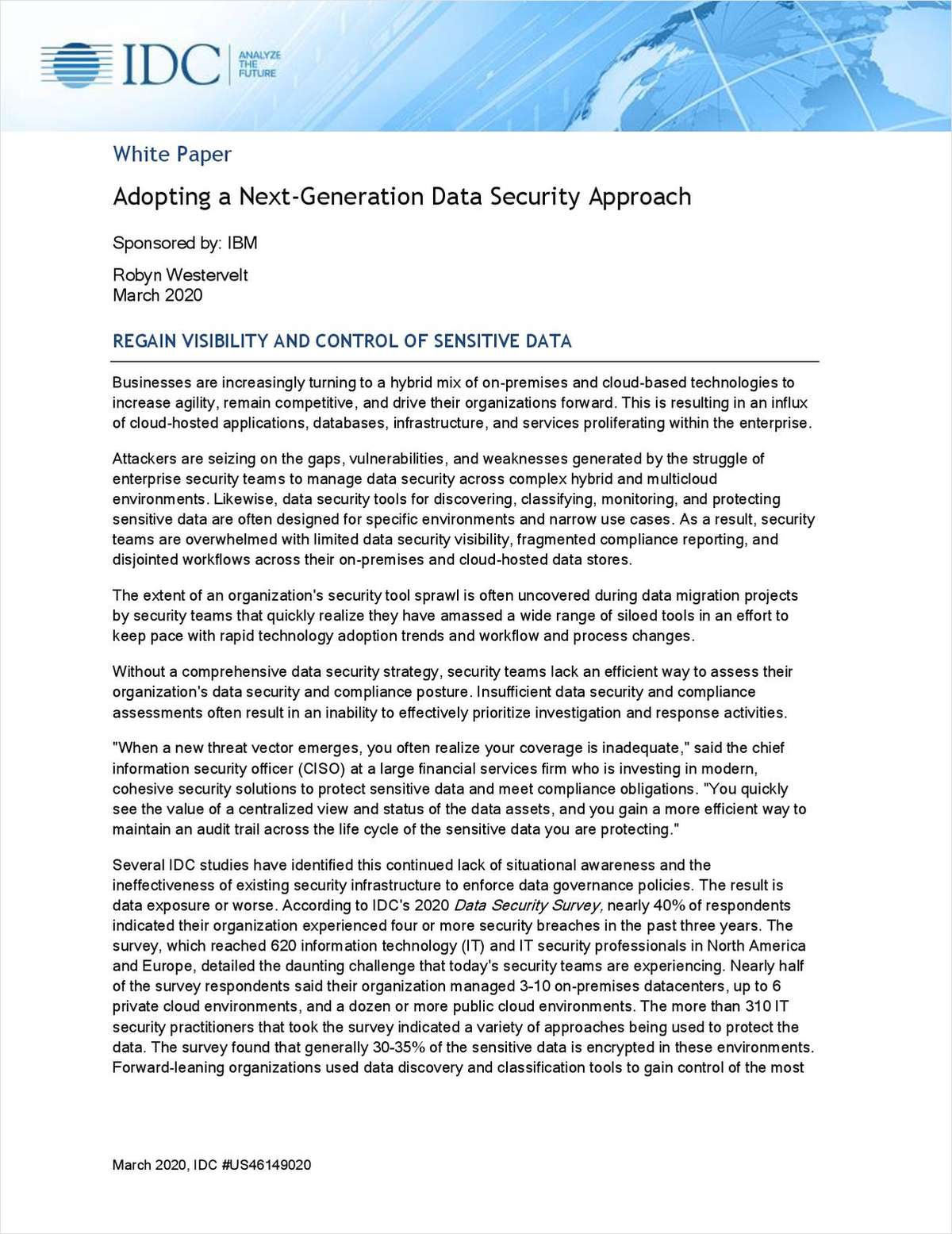 Adopting a Next-Generation Data Security Approach