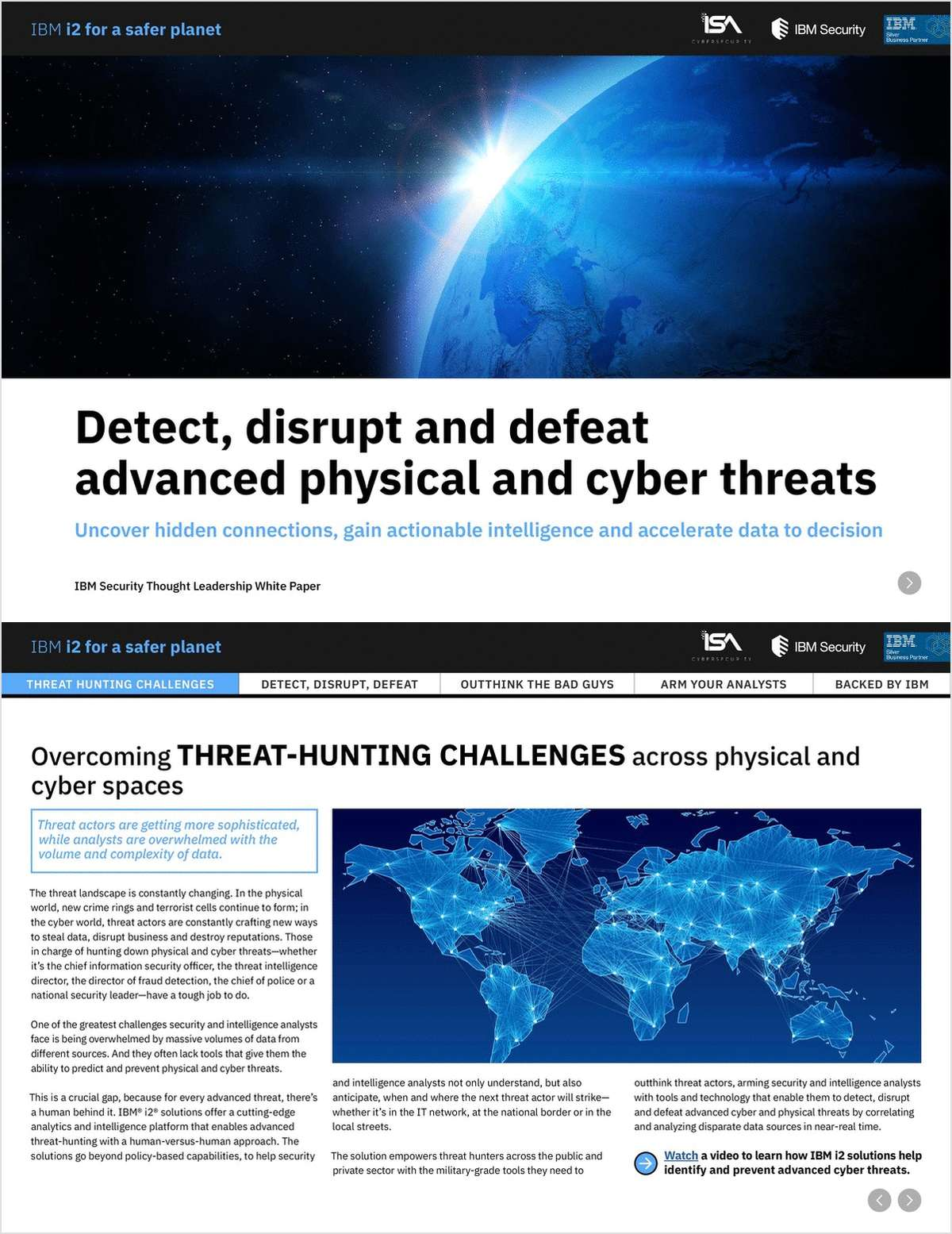 Detect, disrupt and defeat advanced physical and cyber threats