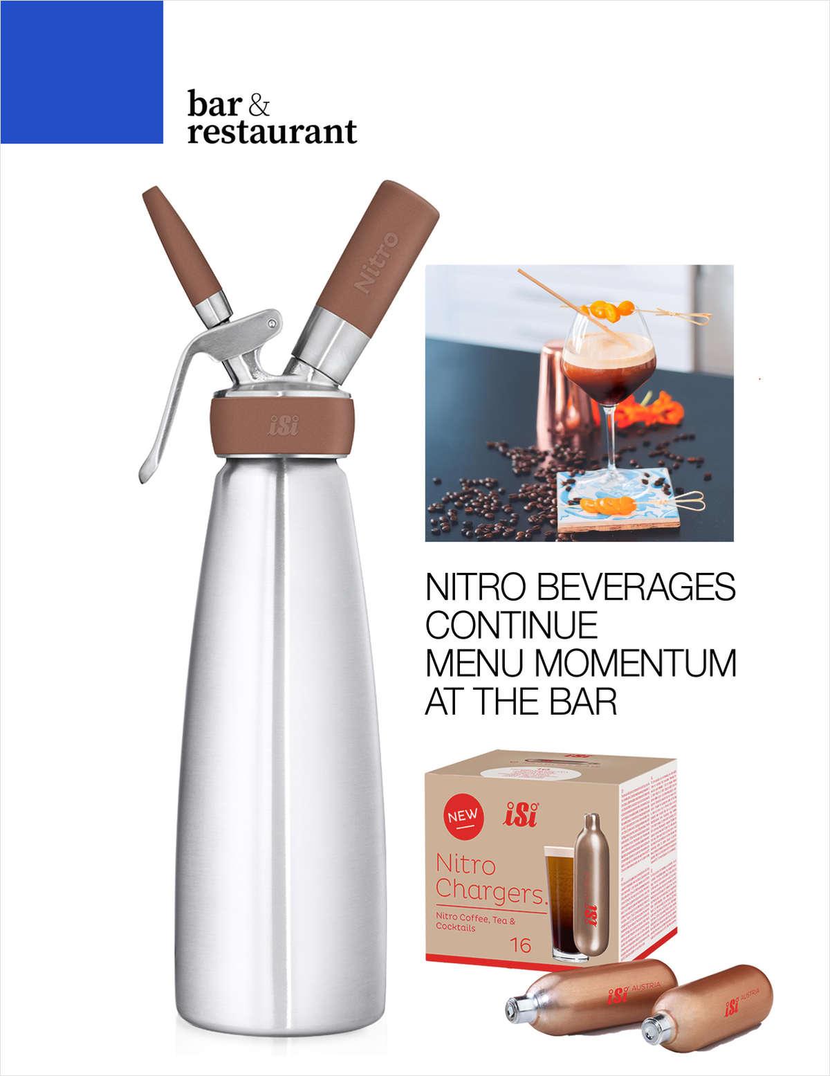 Nitro Beverages Continue Menu Momentum at the Bar