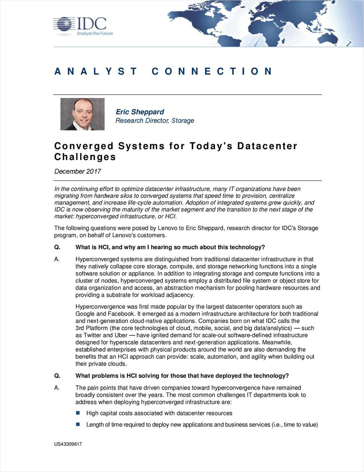 Hyperconvergence: Meeting Today's And Tomorrow's Datacenter Challenges