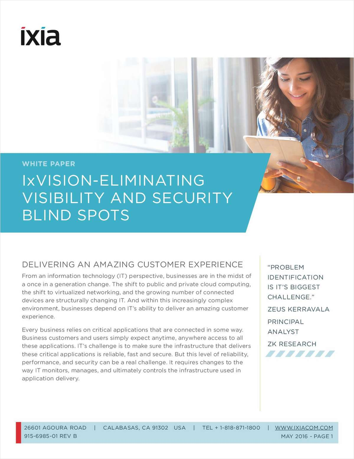 IxVision - Eliminating Visibility and Security Blind Spots