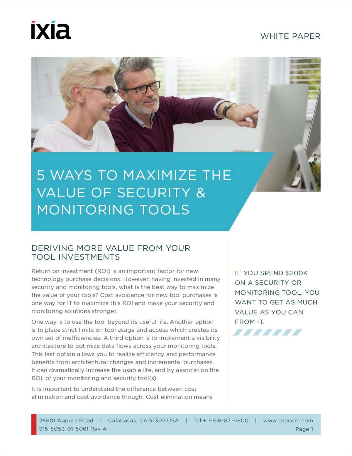 5 Ways to Maximize the Value of Security and Network Monitoring Tools