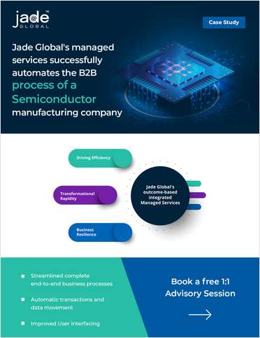 Jade Global's managed services successfully automates the B2B process of a Semiconductor manufacturing company