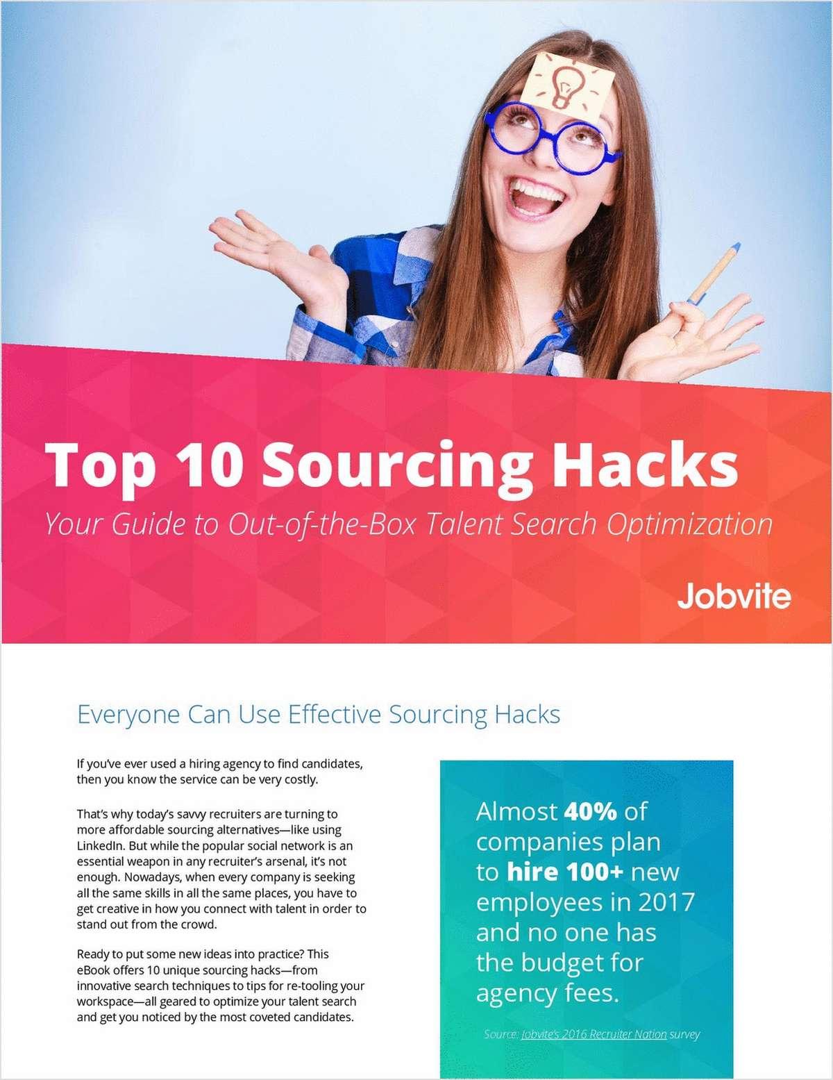 Top 10 Sourcing Hacks