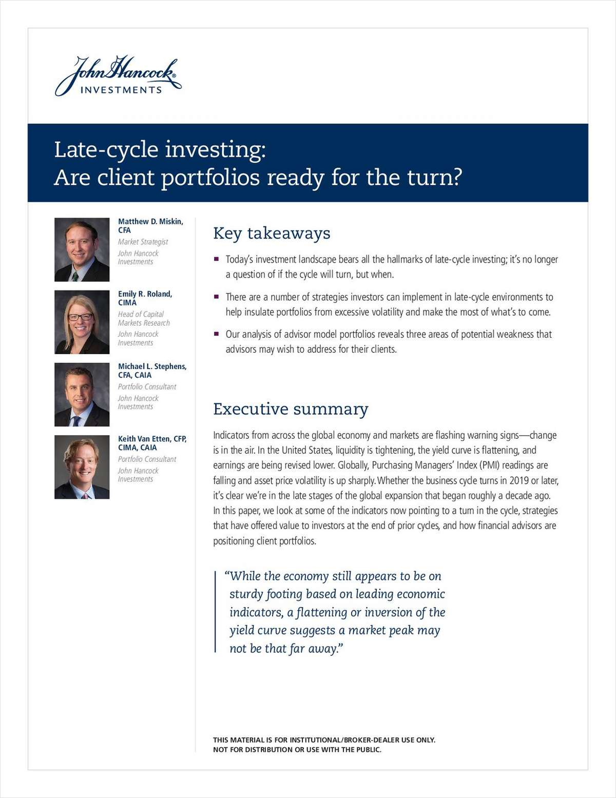 Late-Cycle Investing: Are Client Portfolios Ready For The Turn?