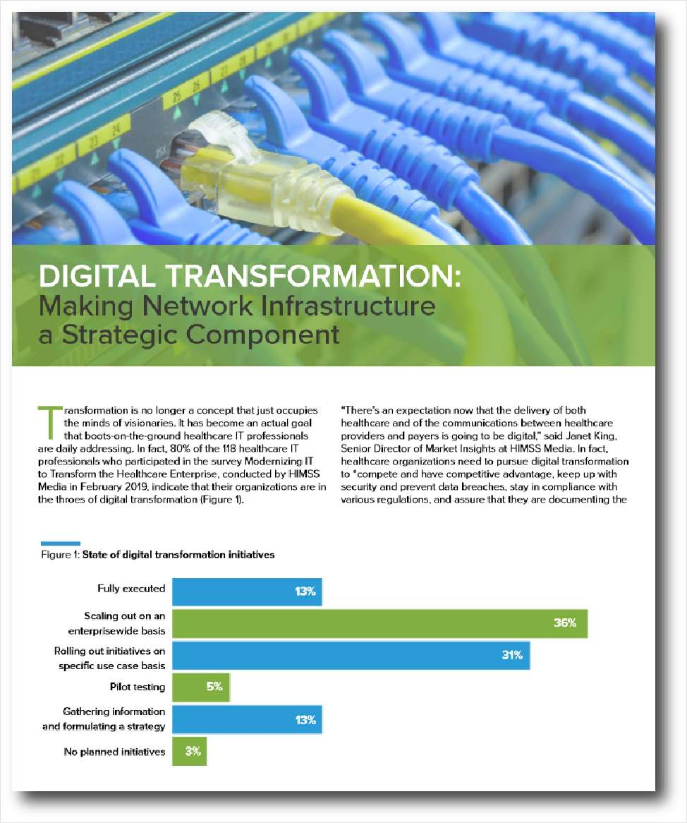 Digital Transformation: Making Network Infrastructure a Strategic Component