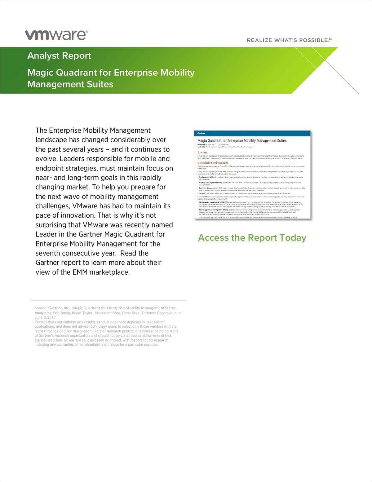 Gartner Magic Quadrant for Enterprise Mobility Management
