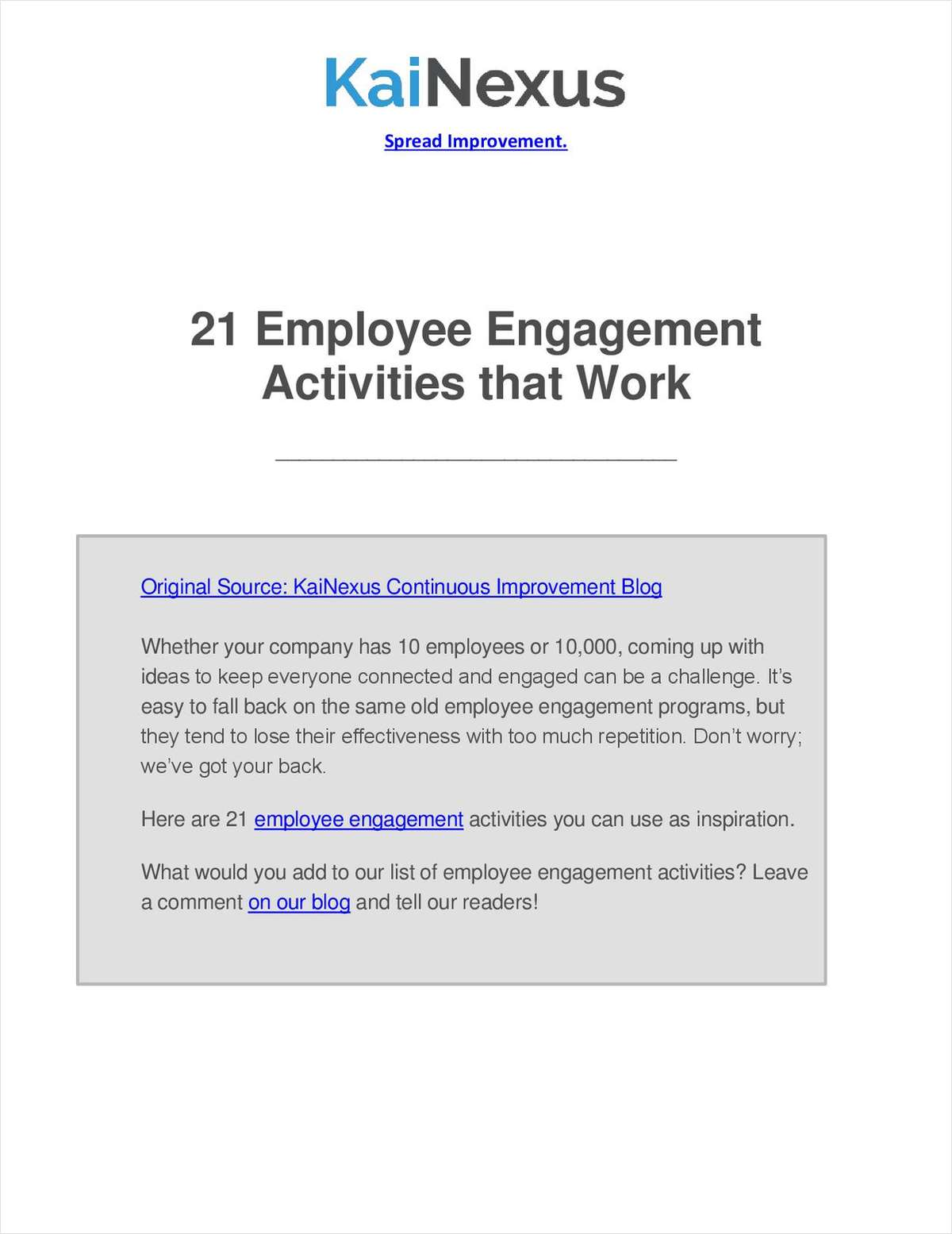 21 Employee Engagement Activities that Work