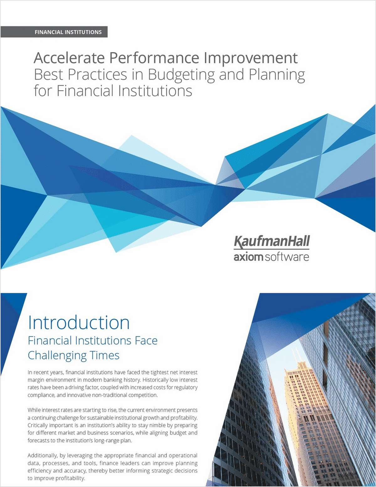 Accelerate Performance Improvement: Best Practices in Budgeting and Planning for Credit Unions