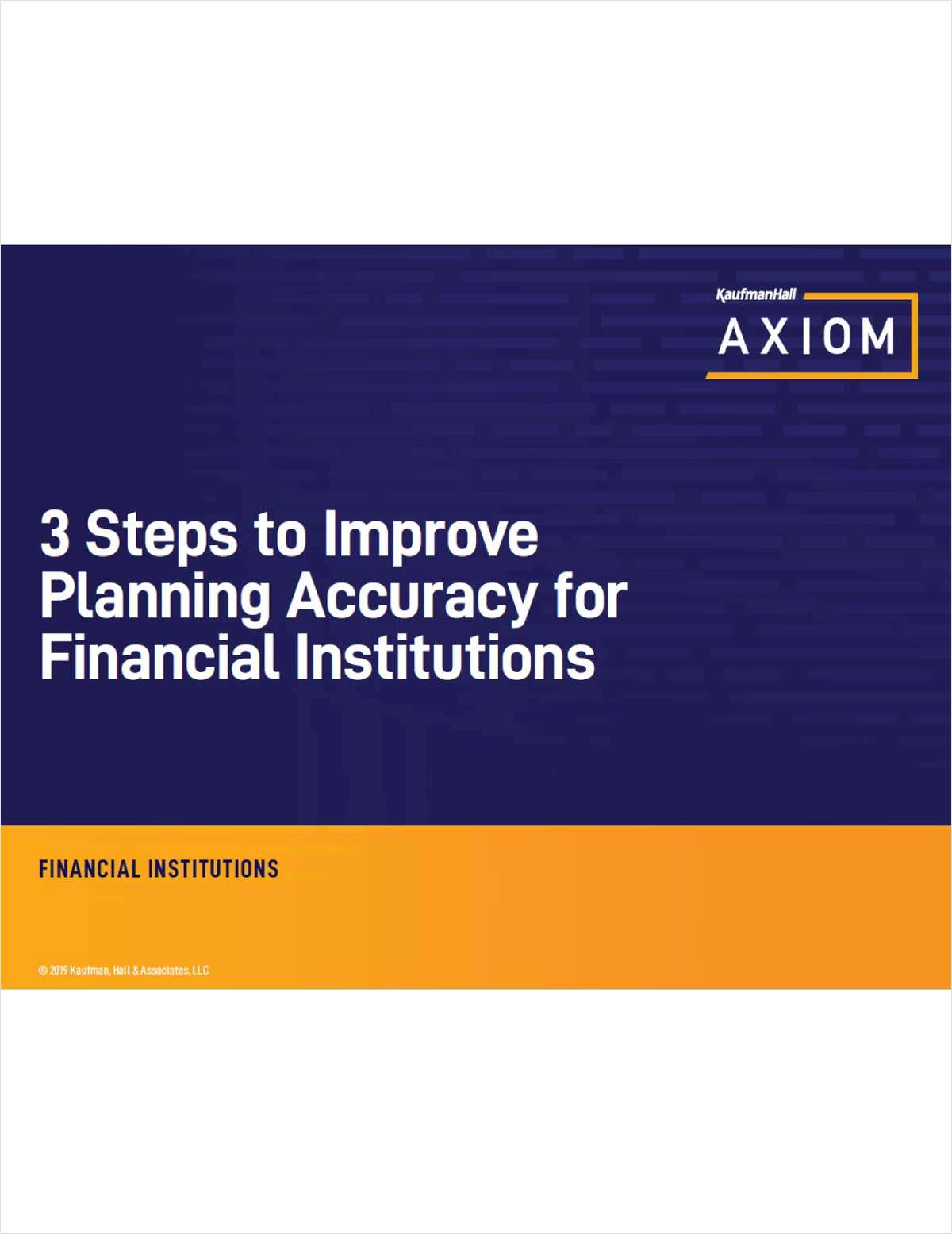 3 Steps to Improve Planning Accuracy for Credit Unions