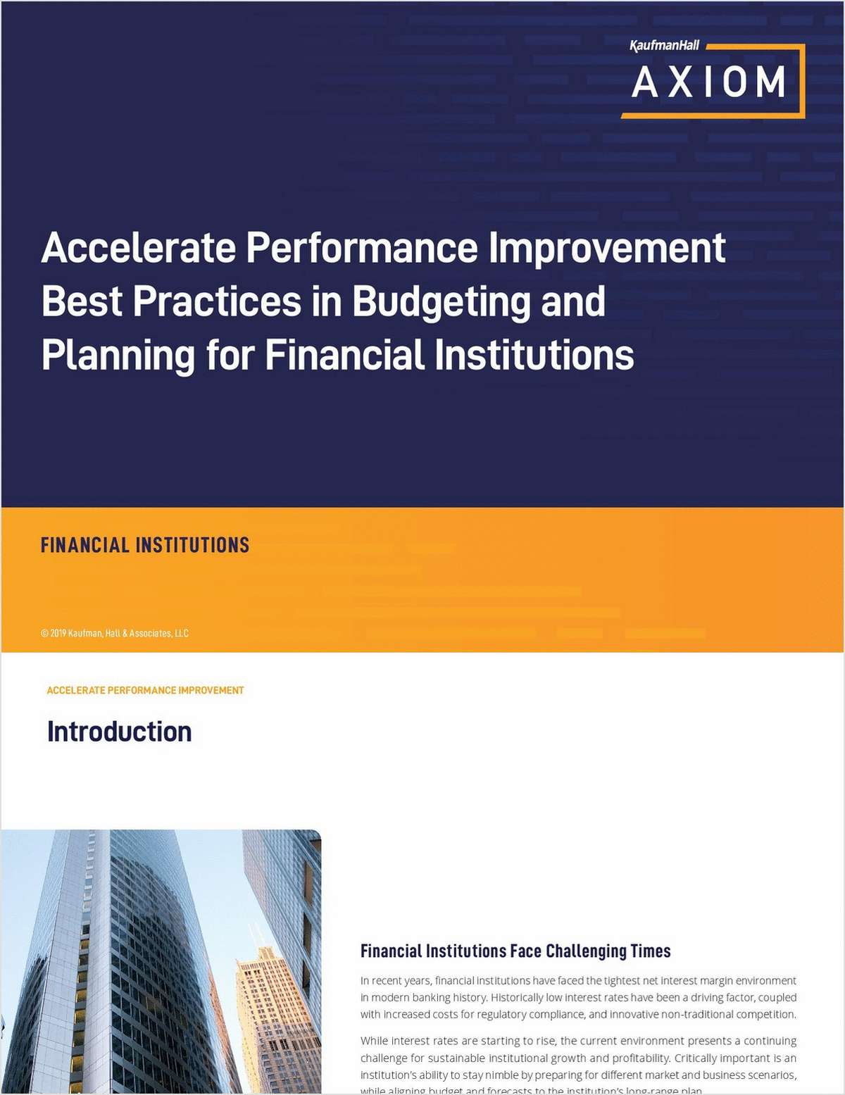Accelerate Performance Improvement -- Best Practices in Budgeting and Planning