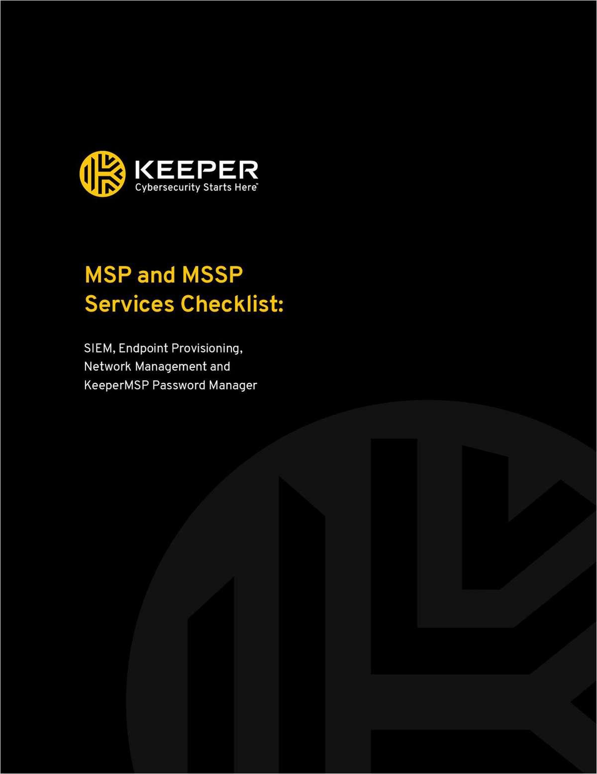 Keeper MSP Password Management