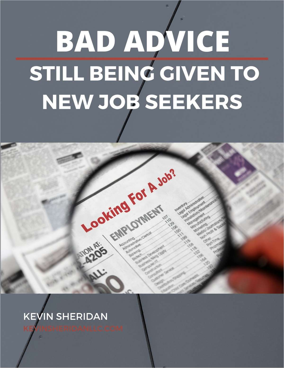 Bad Advice Still Being Given To New Job Seekers