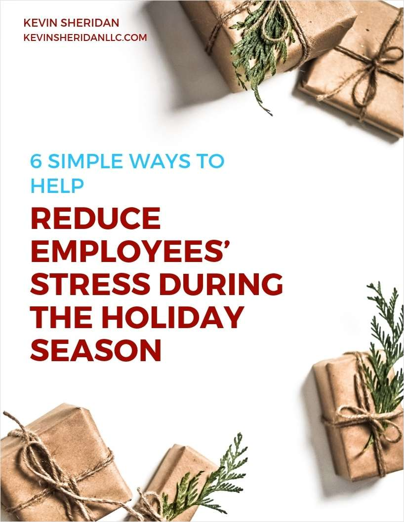 6 Simple Ways to Help Reduce Employees' Stress During the Holiday Season