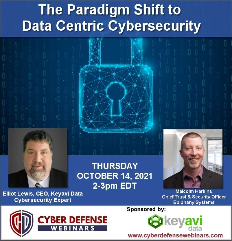 The Paradigm Shift to Data Centric Cybersecurity