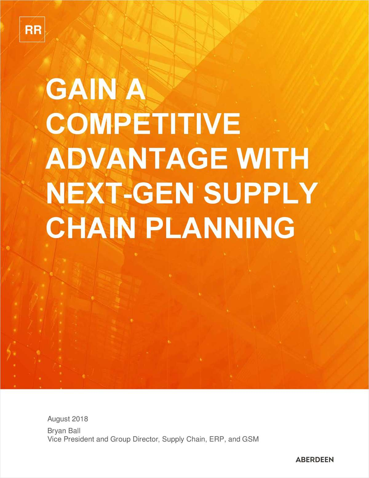 Aberdeen Next Gen Supply Chain Planning