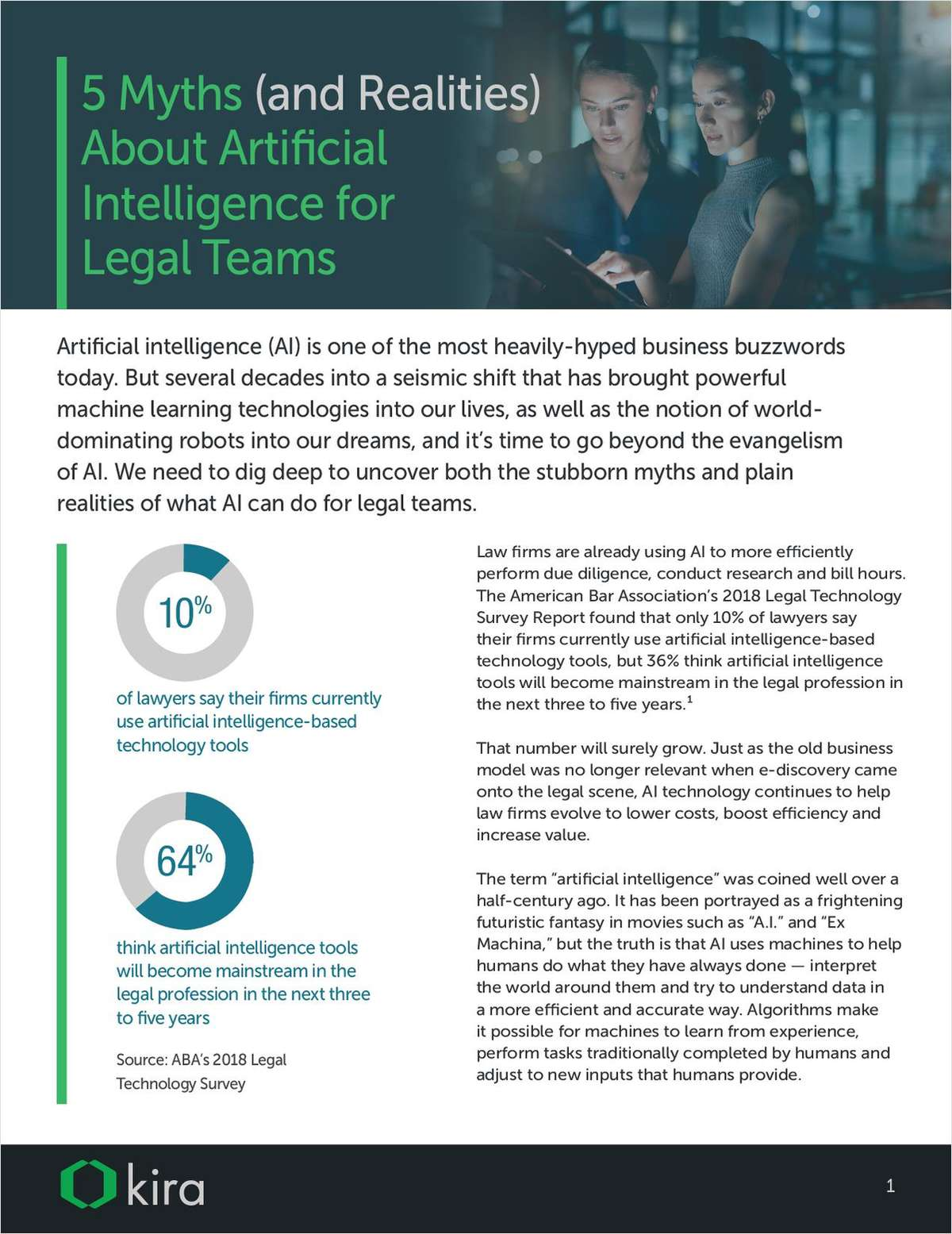 5 Myths & Realities About Artificial Intelligence for Legal Teams