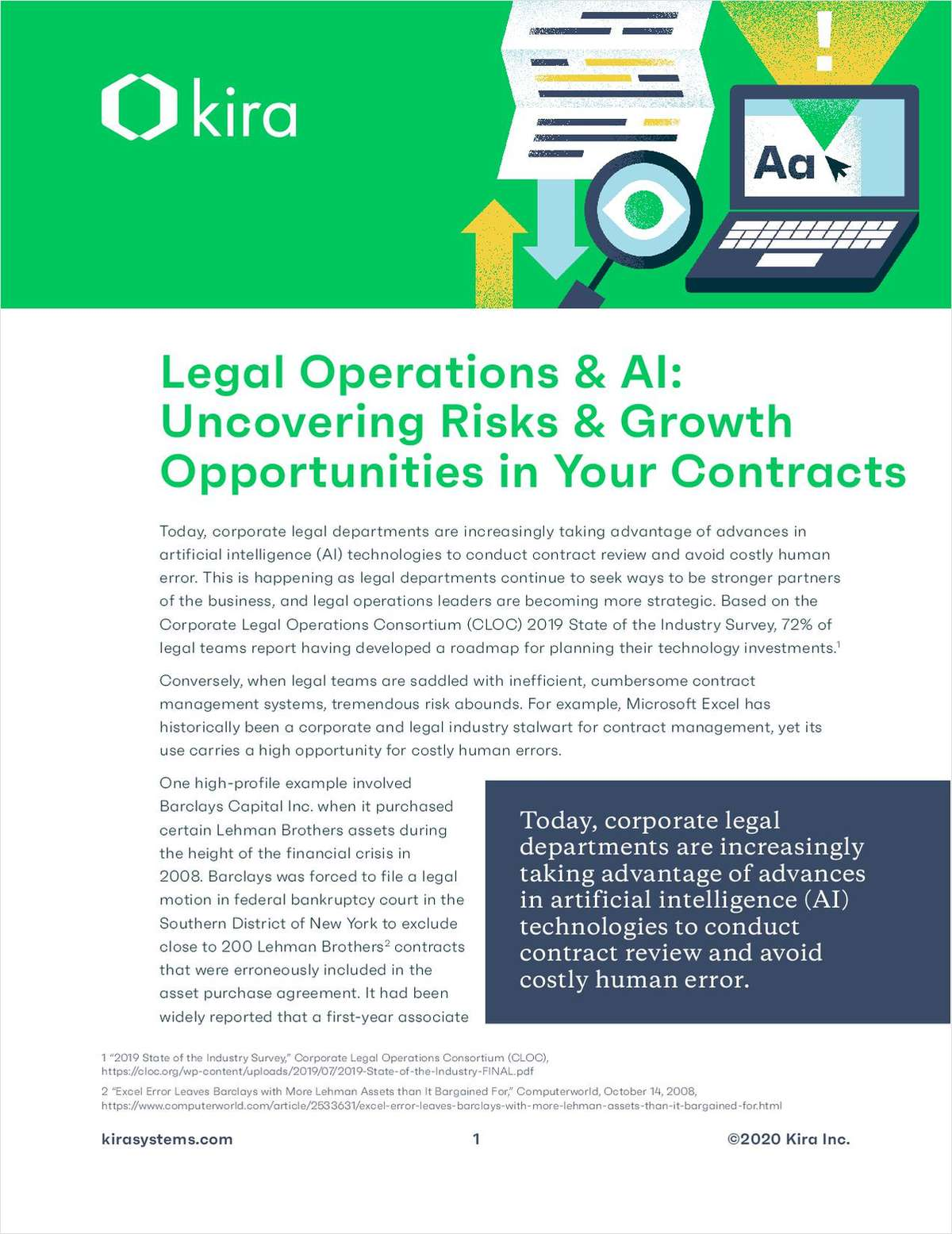 Legal Operations & AI: Uncovering Risks & Growth Opportunities in Your Contracts