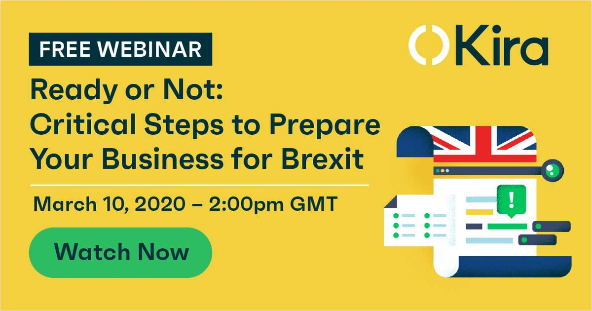 Ready or Not: Critical Steps to Prepare Your Business for Brexit