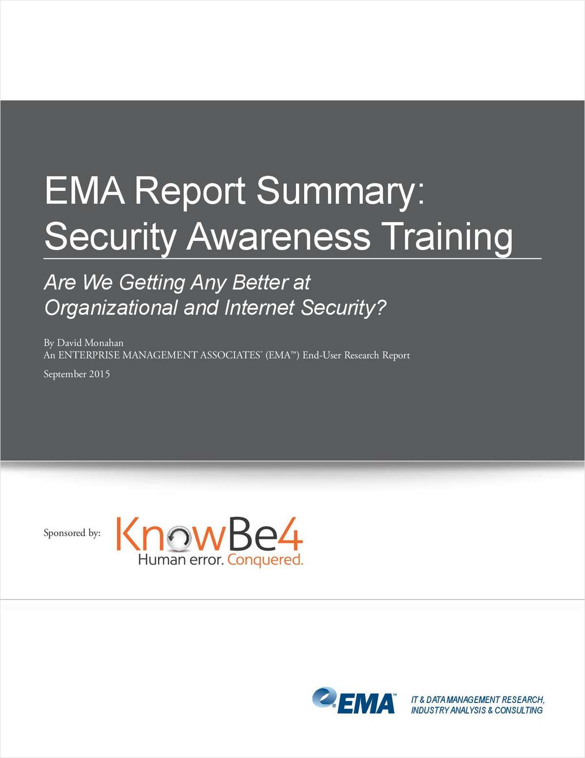 EMA Report Summary: Security Awareness Training