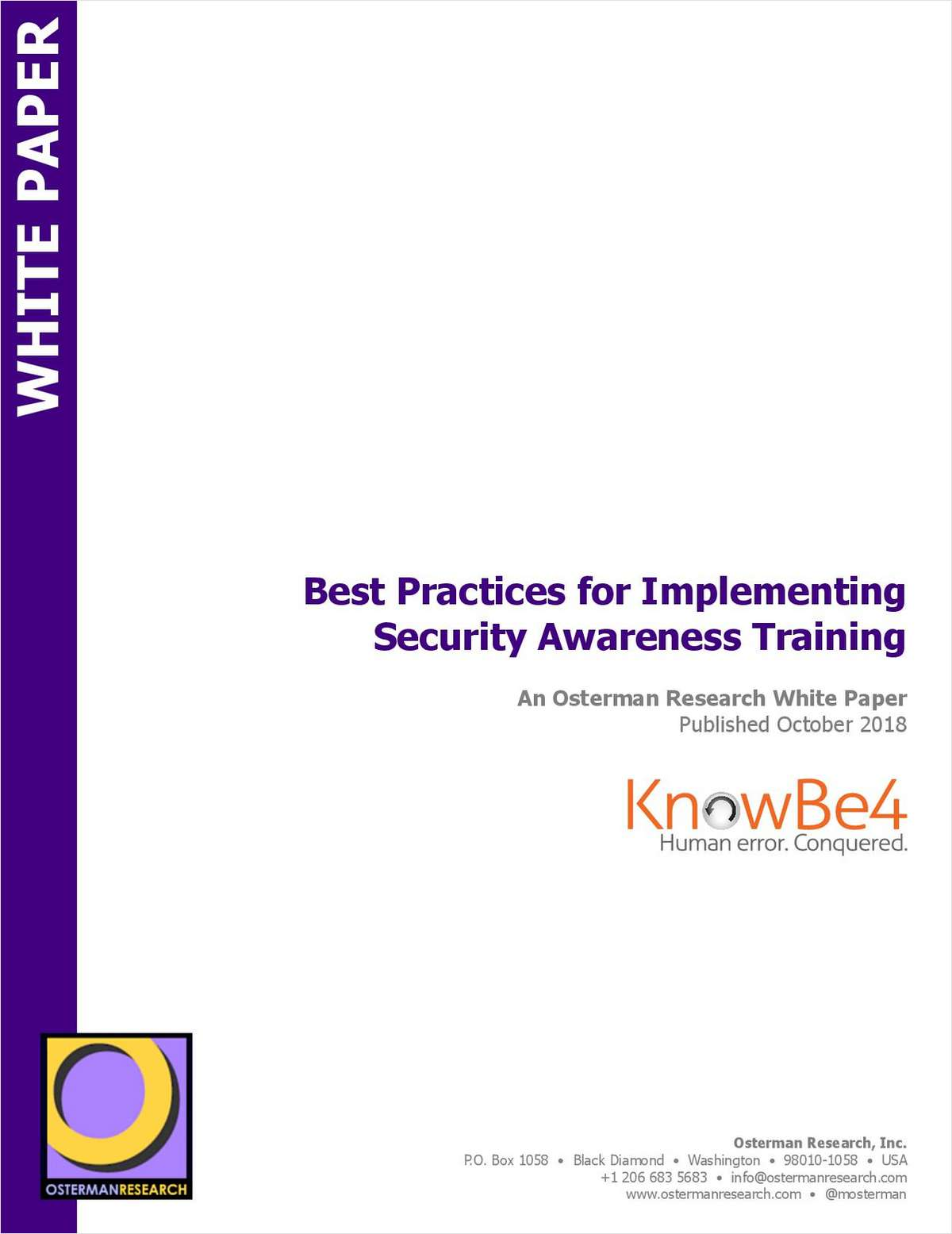 Best Practices for Implementing Security Awareness Training, Free