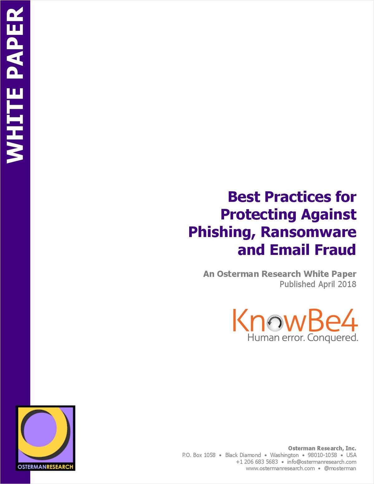 Best Practices for Protecting Against Phishing, Ransomware and Email Fraud