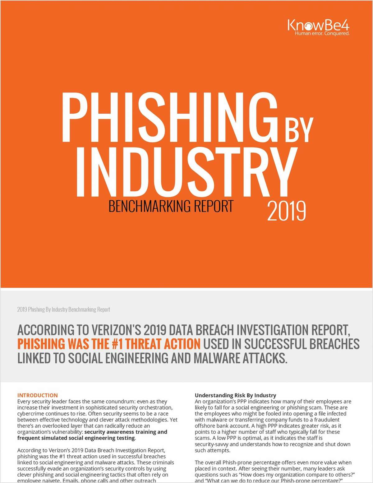 The 2019 Phishing Industry Benchmarking Report