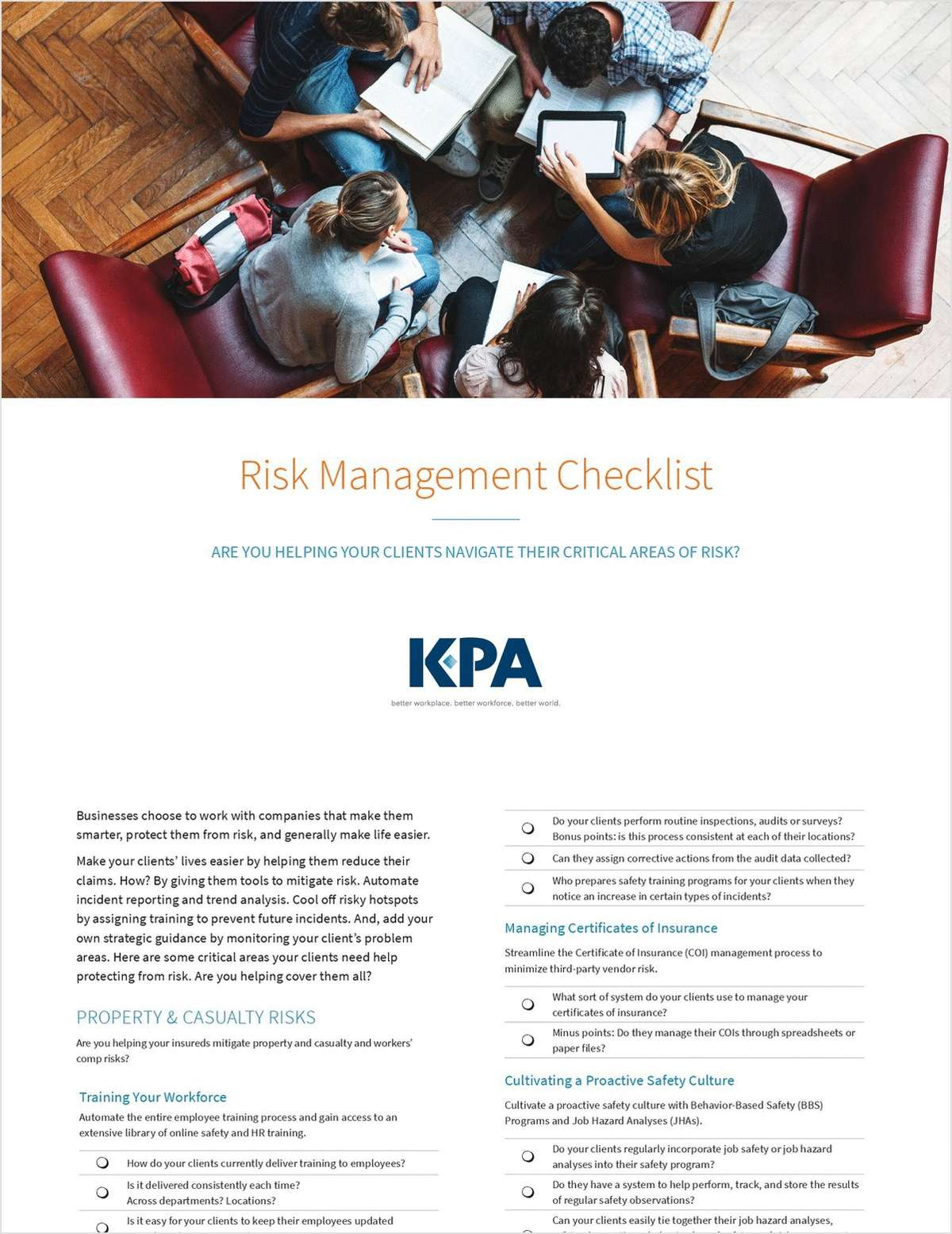 Risk Management Checklist: Are You Helping Clients Navigate Their Critical Areas of Risk?