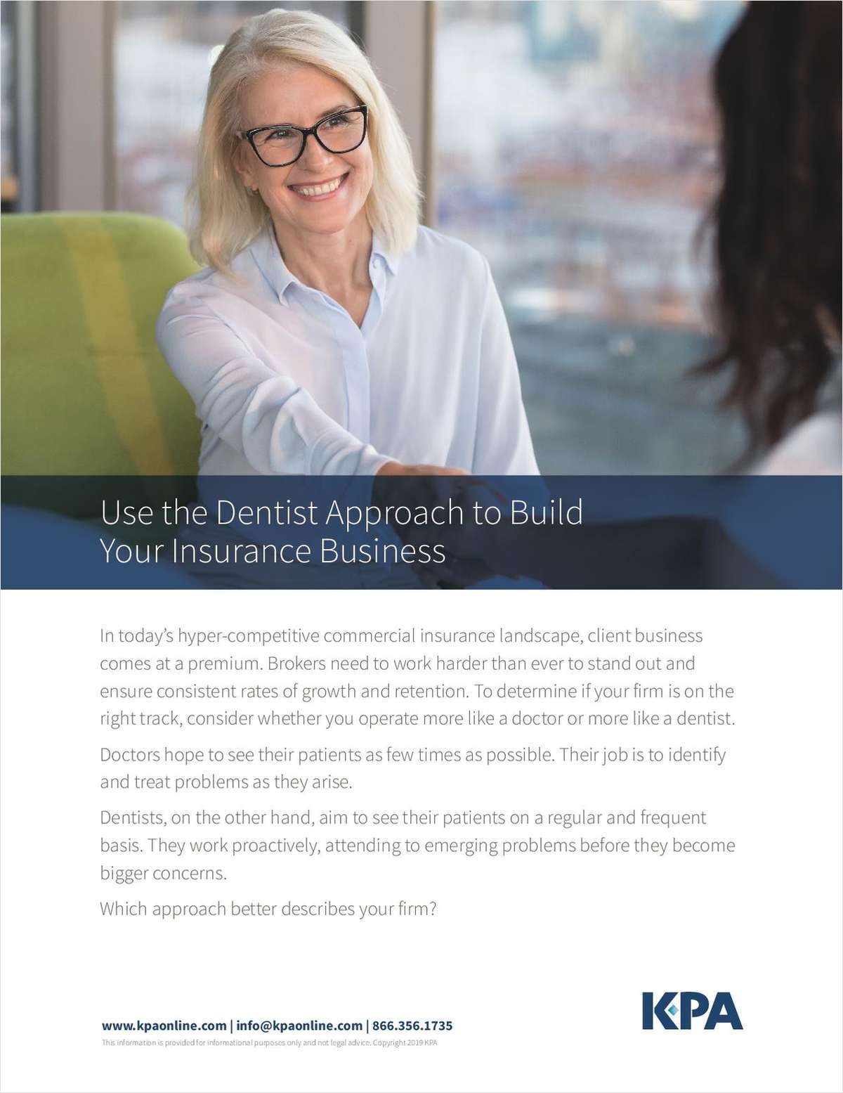 Use the Dentist Approach to Build Your Insurance Business