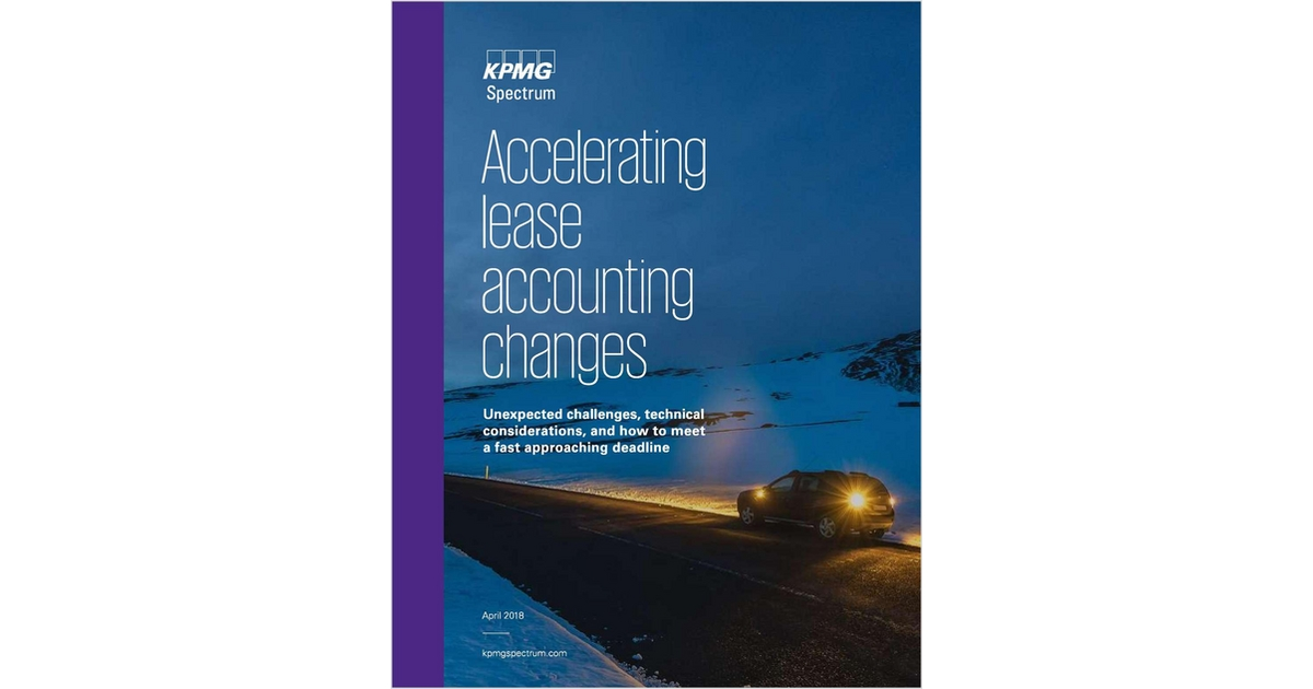 Lease Acceleration Guide, Free KPMG Spectrum Guide
