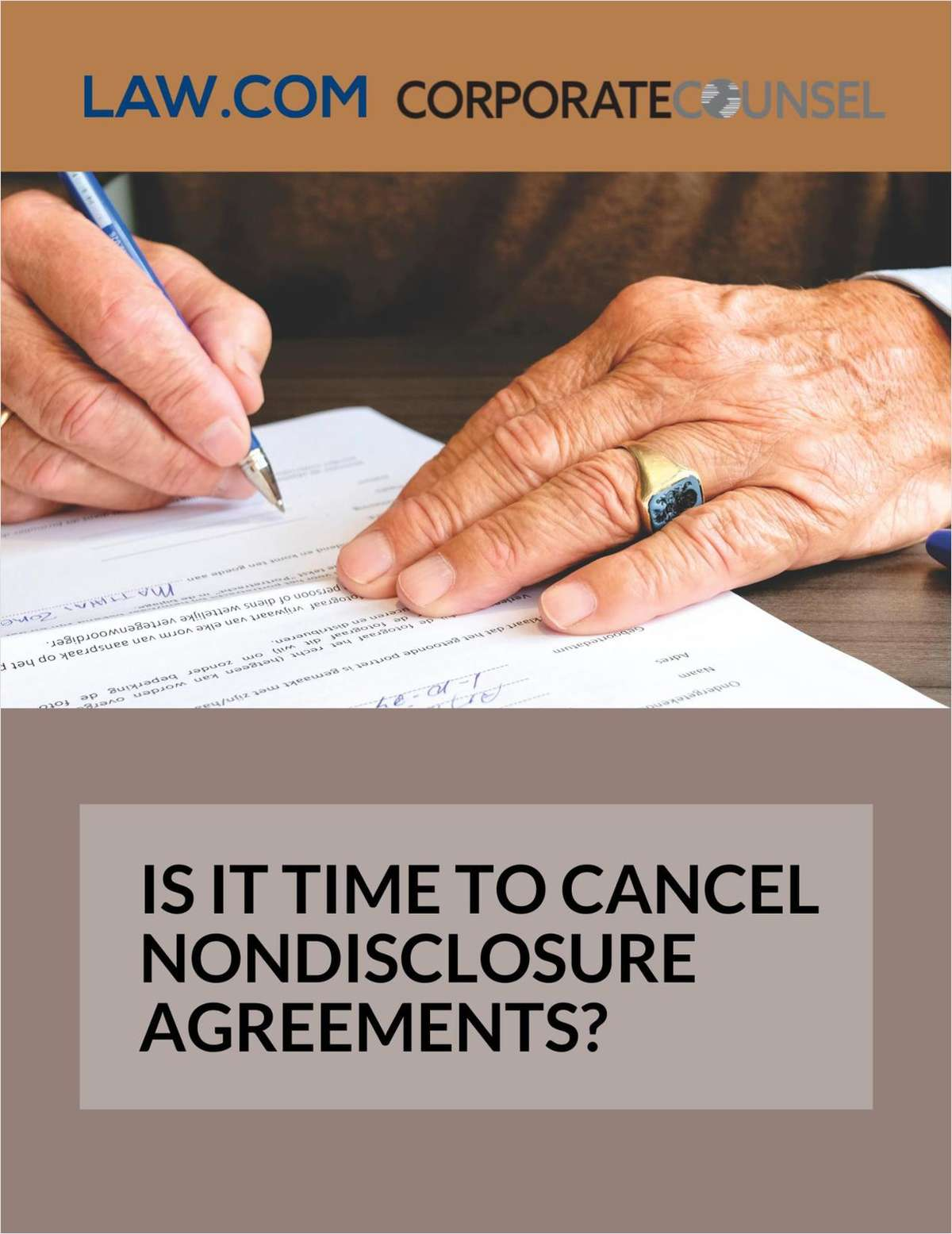 Is It Time to Cancel Nondisclosure Agreements?