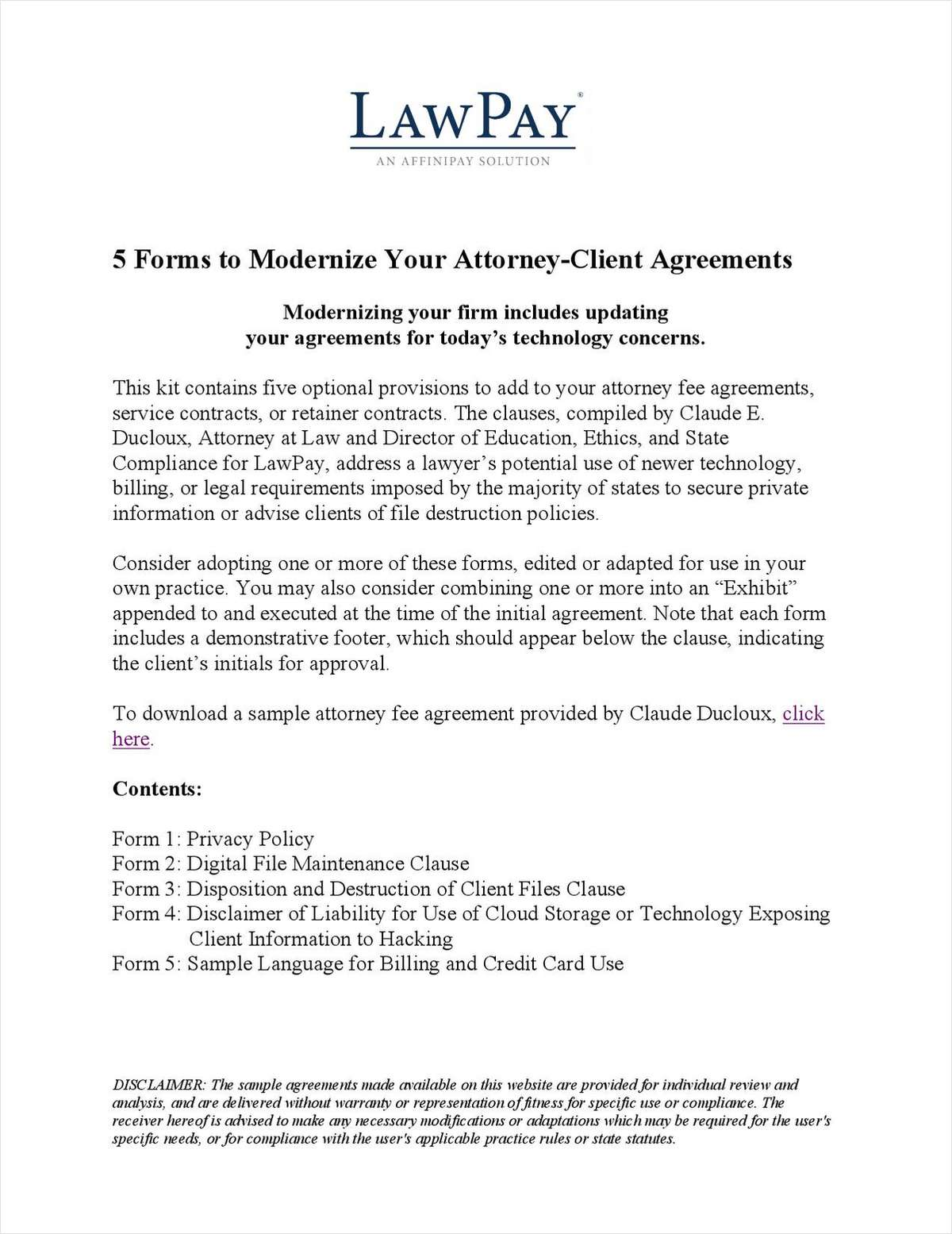 5 Forms to Modernize Your Attorney-Client Agreements