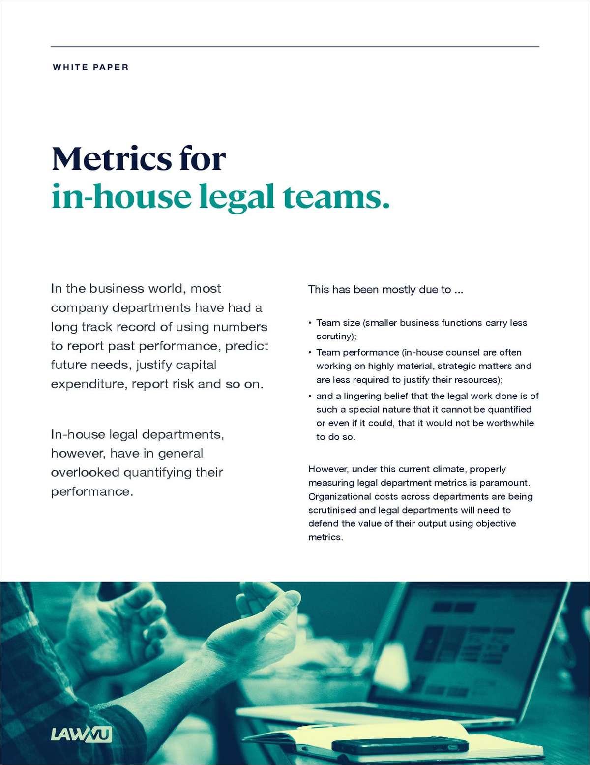 Metrics For In-House Legal Teams