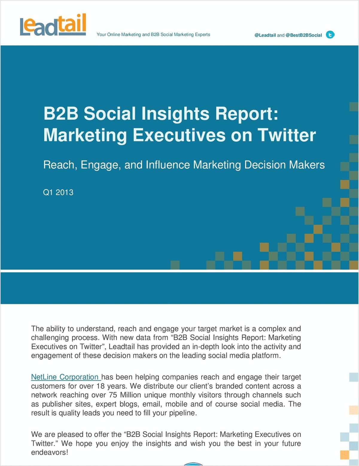 Q1 2013 B2B Social Insights Report: Marketing Executives on Twitter