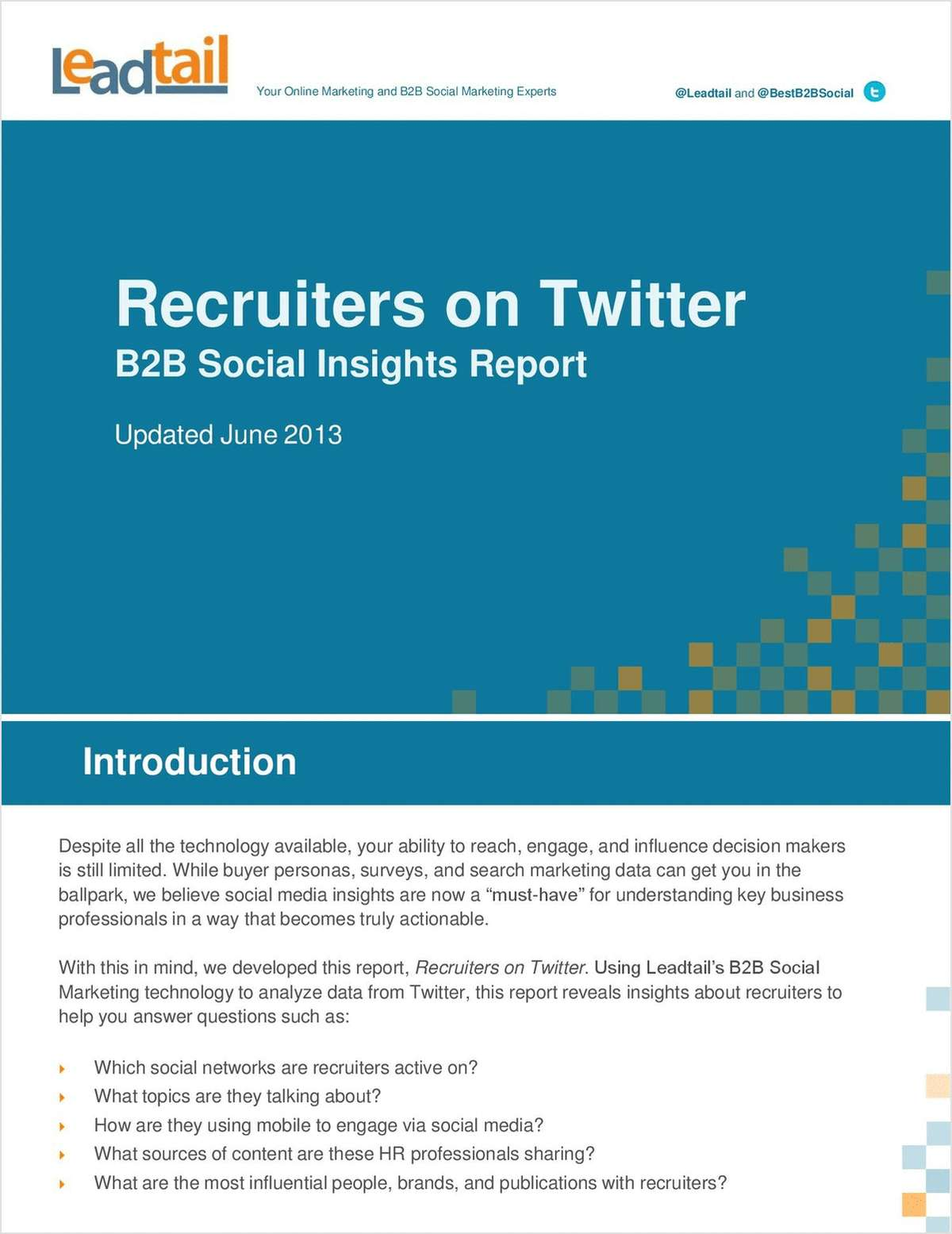 Recruiters on Twitter: B2B Social Insights Report