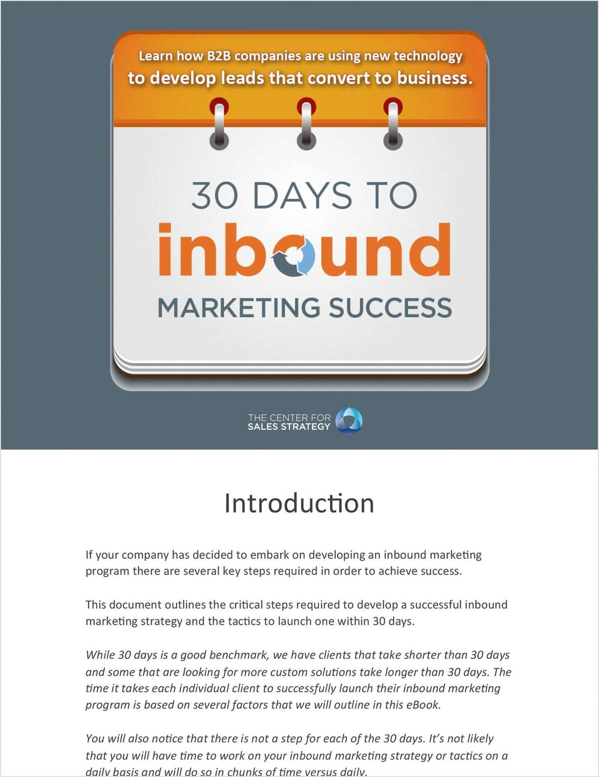 30 Days to Inbound Marketing Success