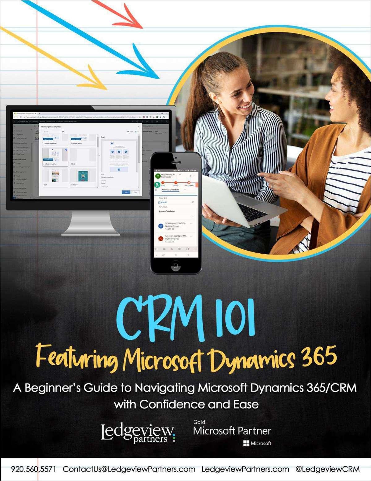 CRM 101 Featuring Microsoft Dynamics 365