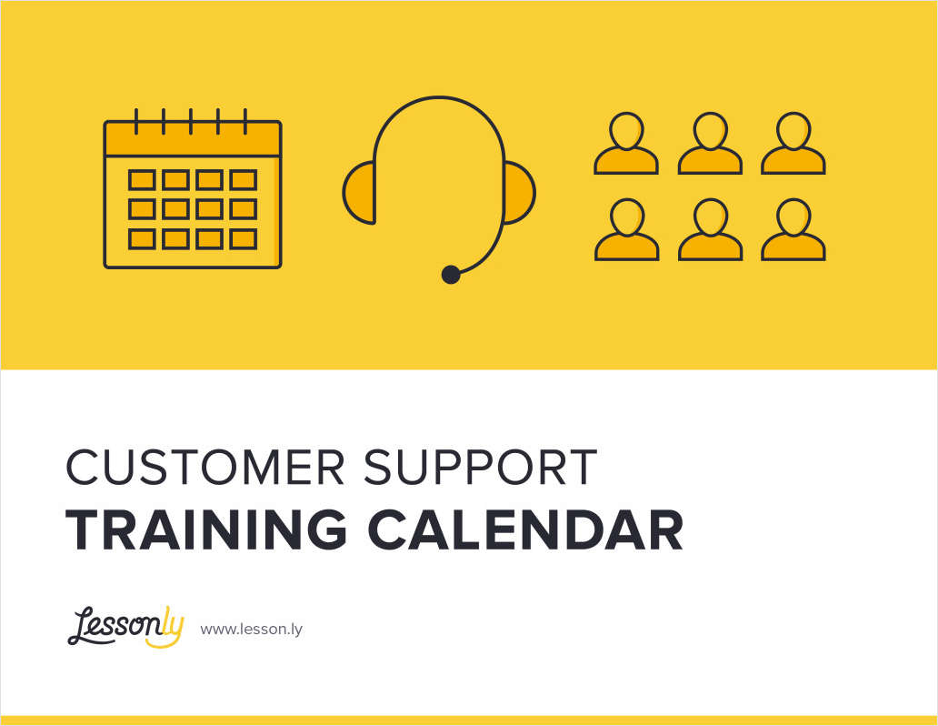 Customer Support Training Calendar by Lessonly