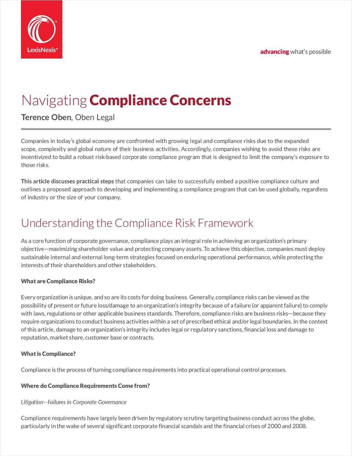 How to Build a Compliance Program & Navigate Concerns