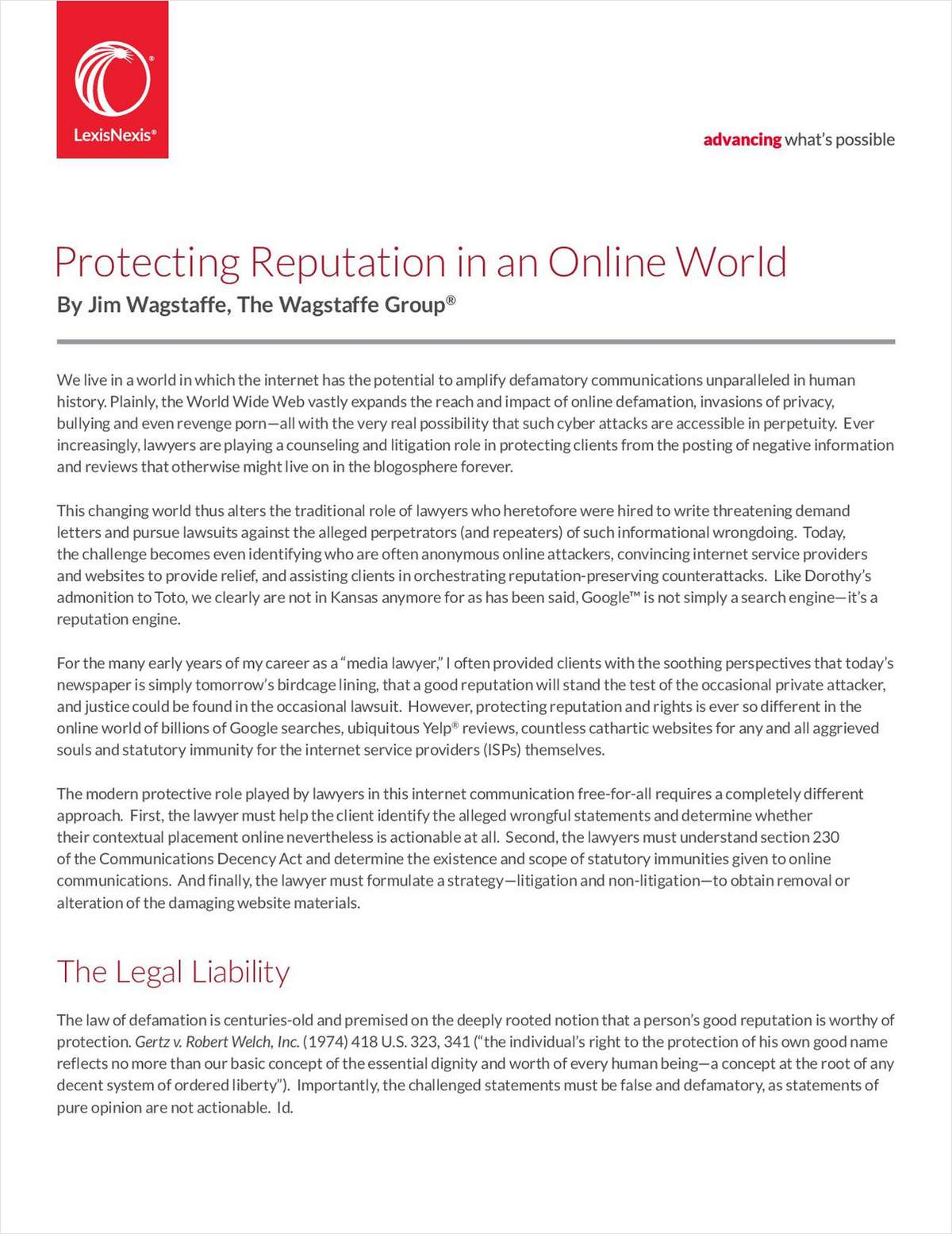 A Modern Approach to Protect Client Reputations Online