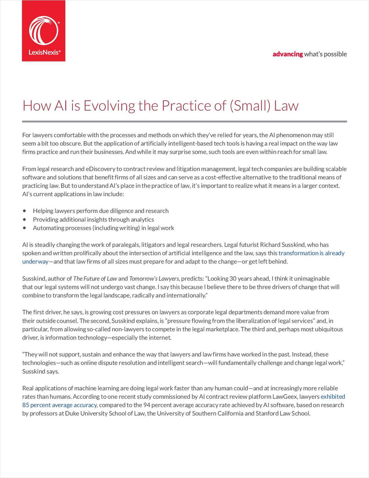 How AI is Evolving the Practice of Small Law