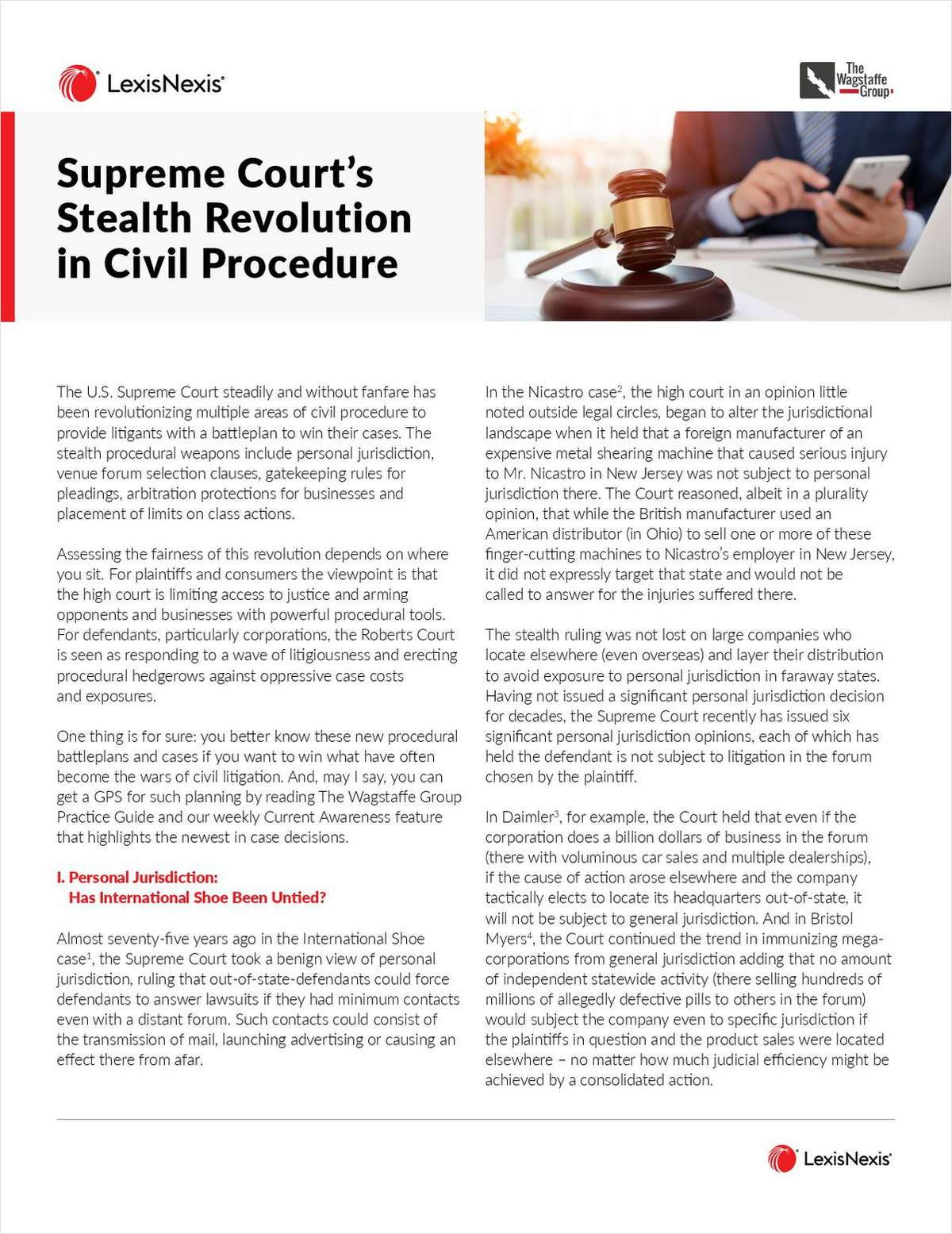 The Supreme Court's Stealth Revolution in Civil Procedure Free Article