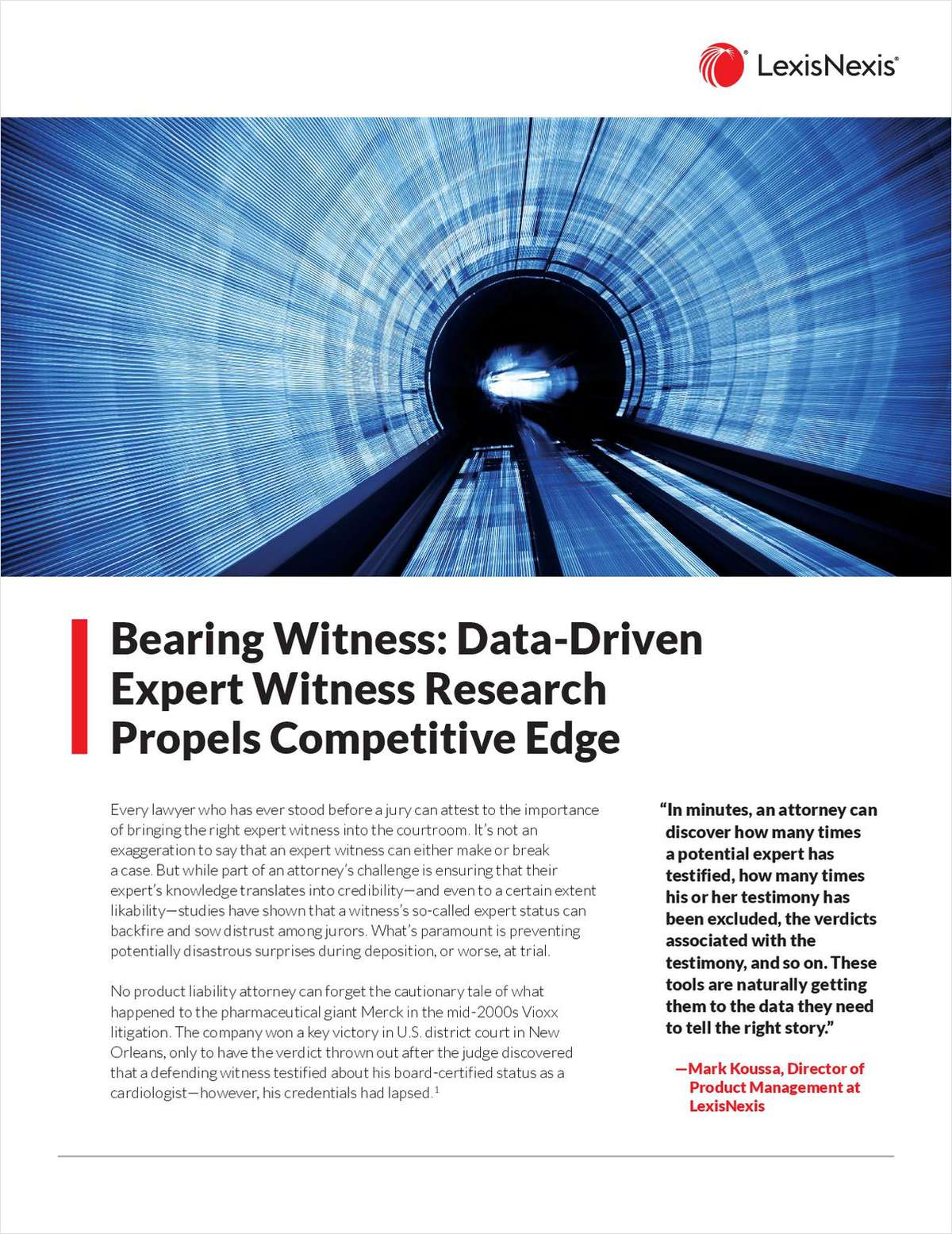 Bearing Witness: Data-Driven Expert Witness Research Propels Competitive Edge