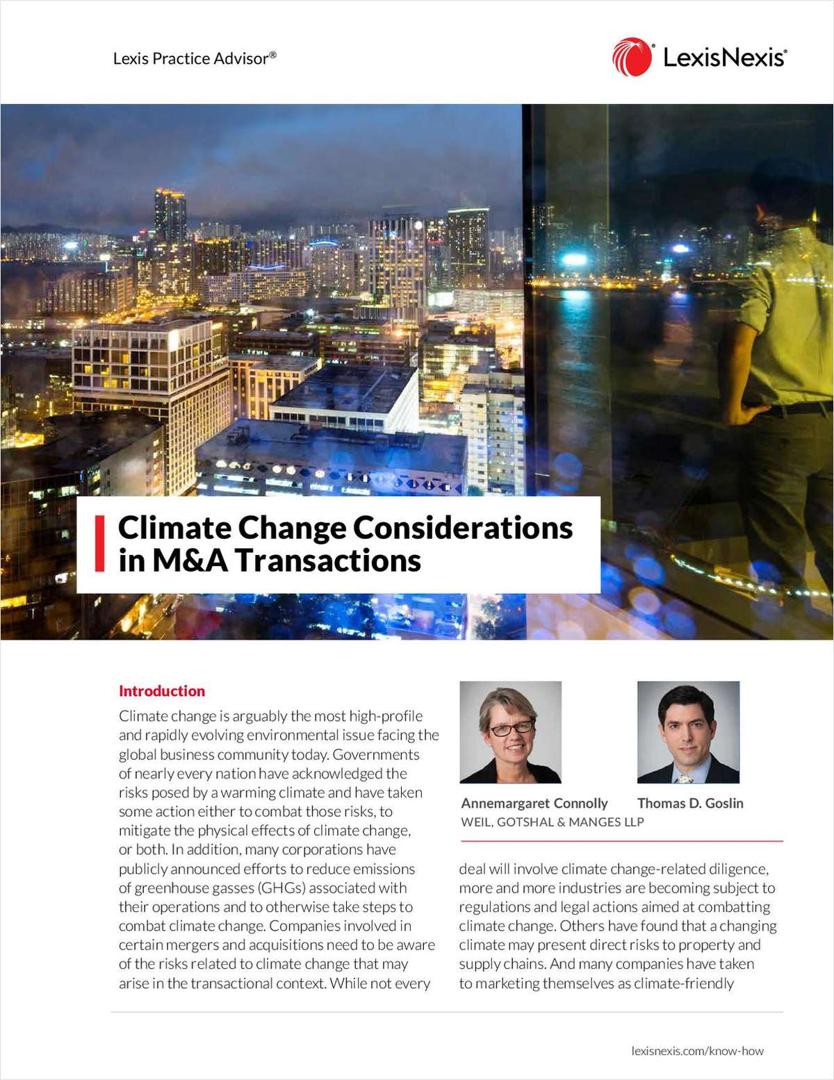 Climate Change Considerations in M&A Transactions